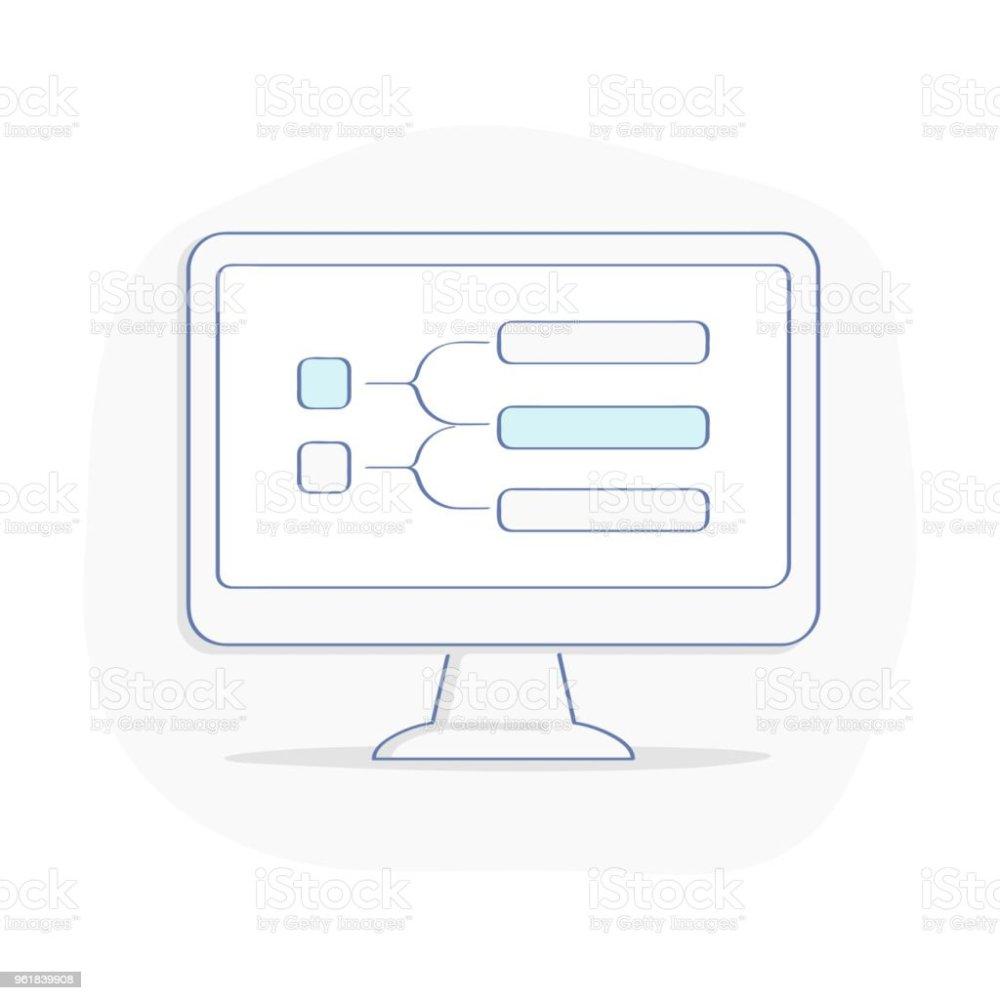 medium resolution of computer display with block diagram flowchart or process chart roadmap timeline presentation