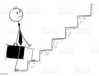 stairs cartoon walking illustration businessman climbing conceptual walk climb vector staircase drawing stick steps business alamy clipart goal vectors achievement