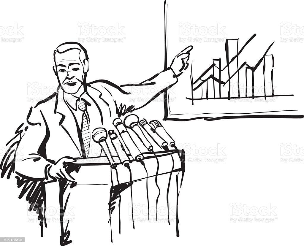 Conference Speaker Doodle Sketch Stock Vector Art & More