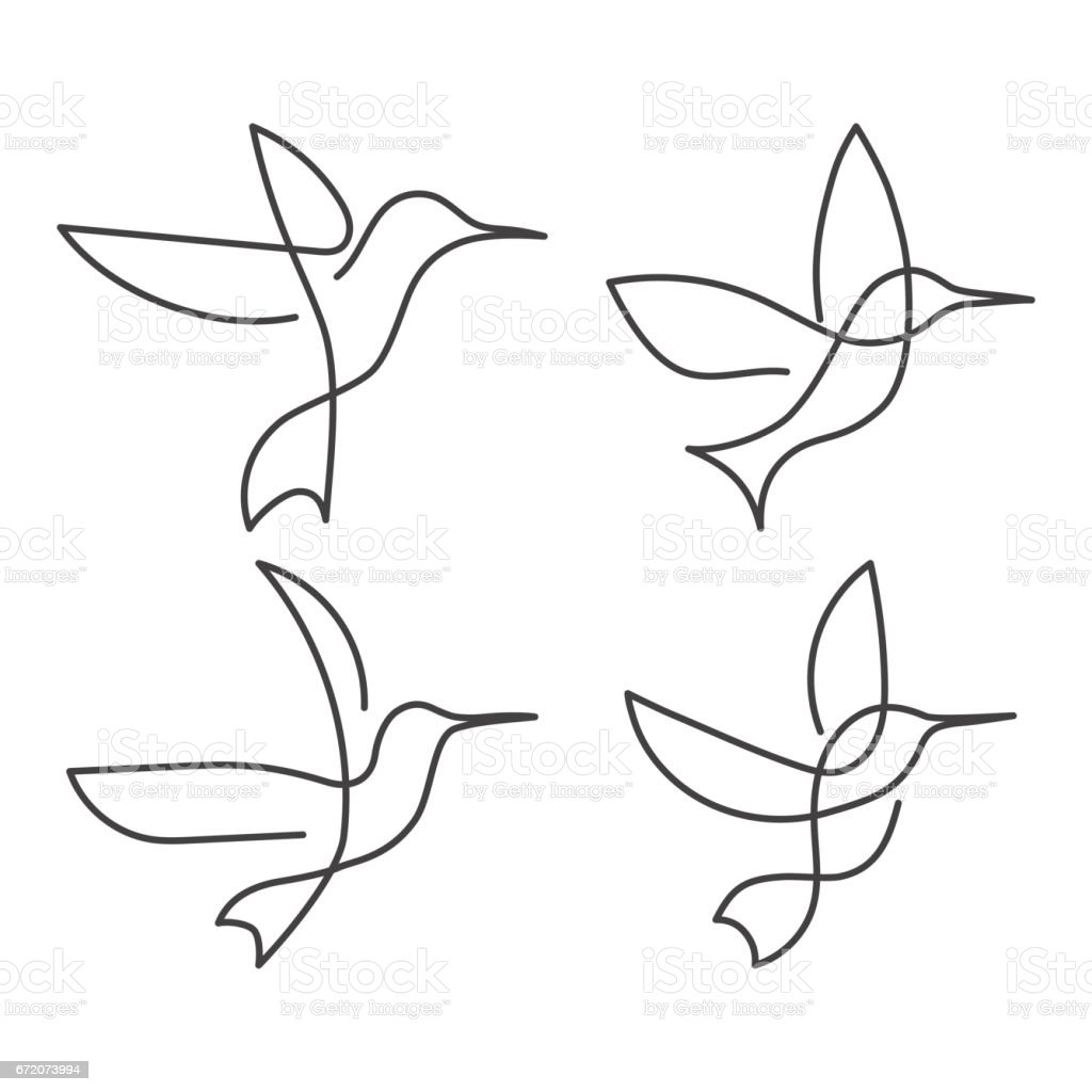 It is a picture of Superb Picasso Bird Drawing
