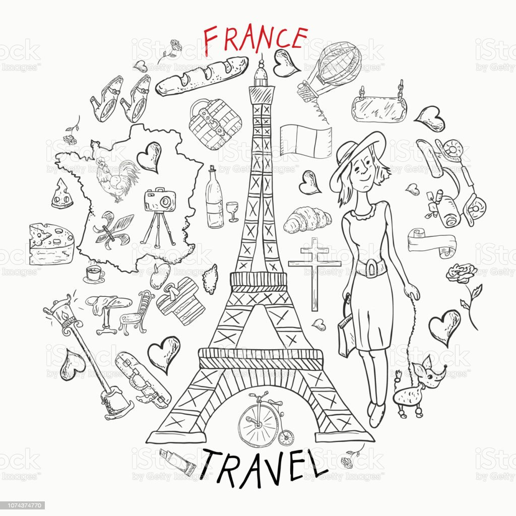 Contour Illustration Coloring Travel1to The Country Of
