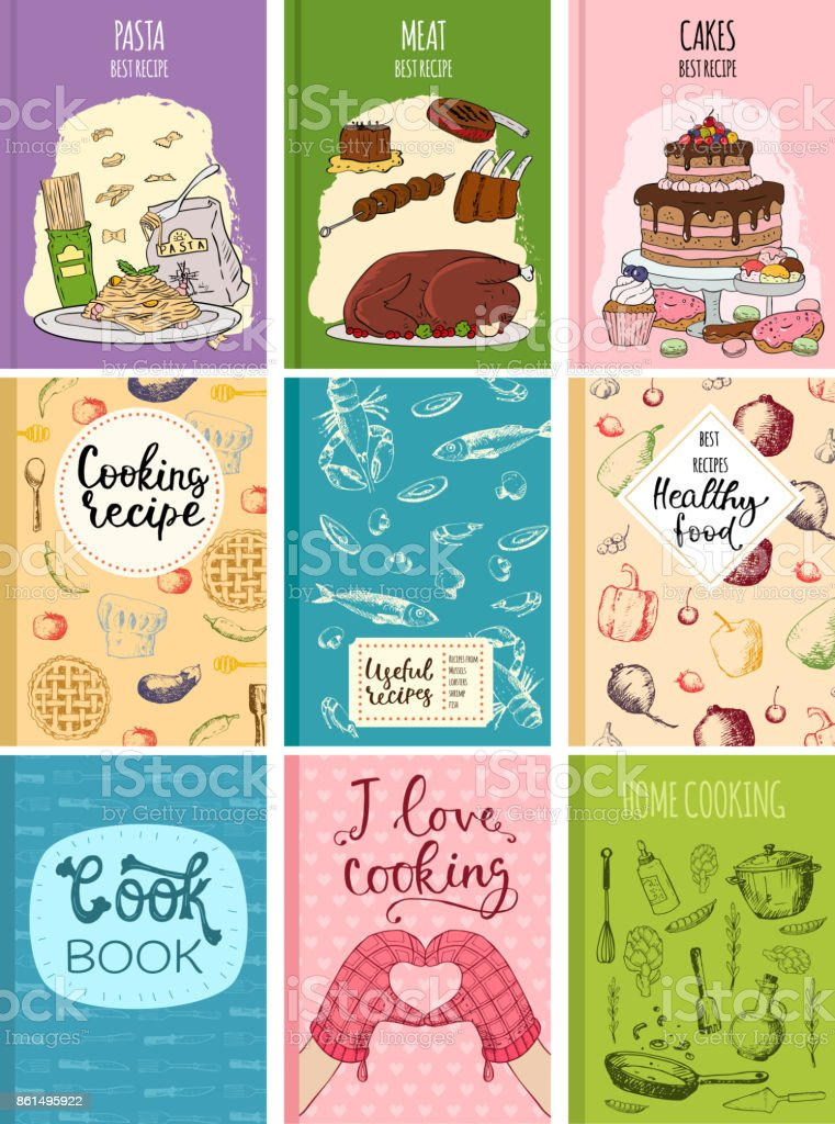 kitchen design template chili pepper decorating themes cooking recipe books cover cards hand drawn culinary cookie notes with doodle