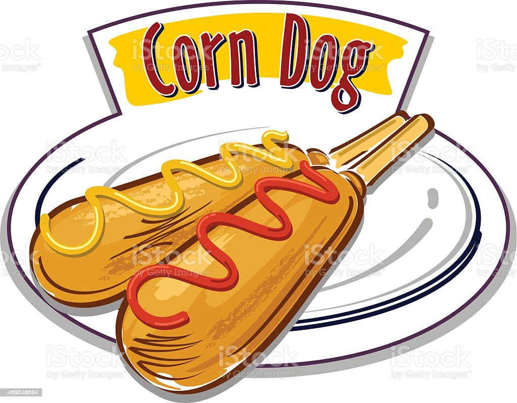 corn dog clip art vector