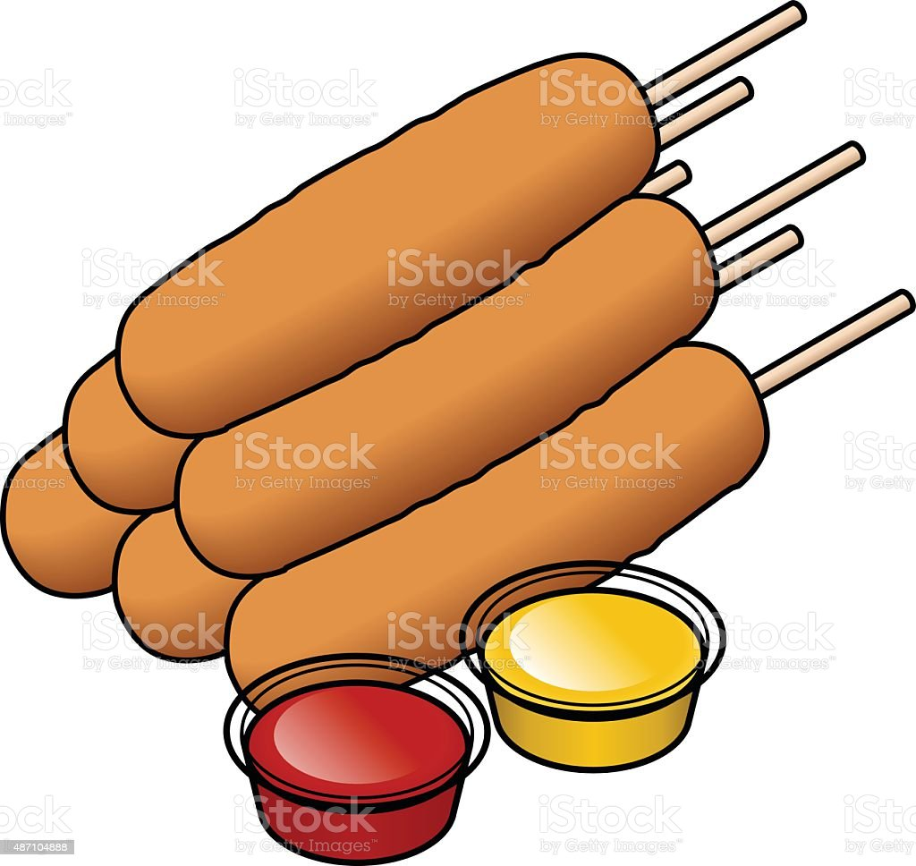 royalty free corn dog clip art