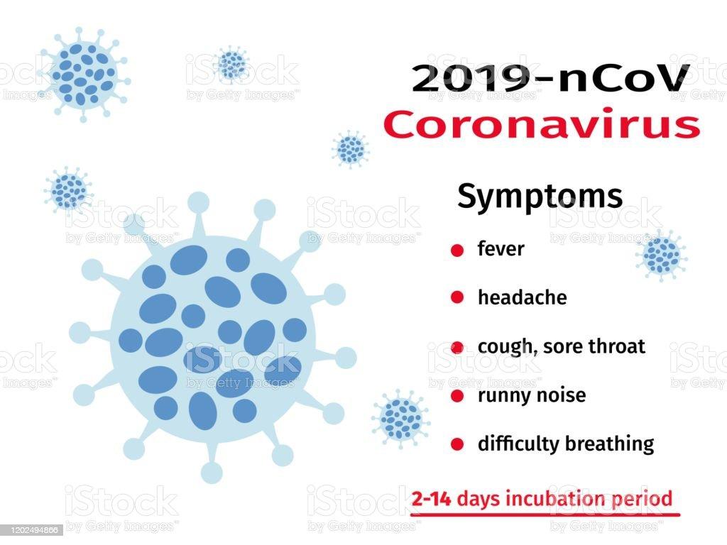 Coronavirus Alert 2019ncov Virus Symptoms Global Epidemic Stock ...