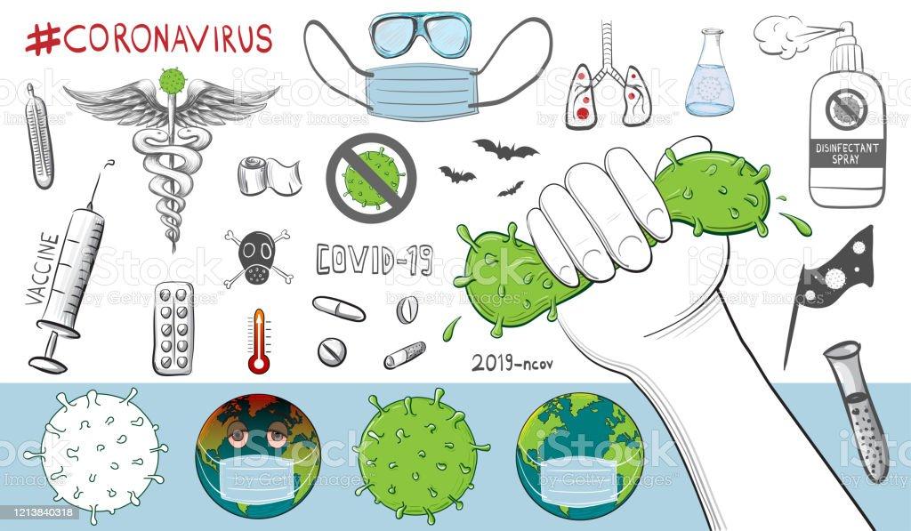 Corona Virus Awareness Drawing Image