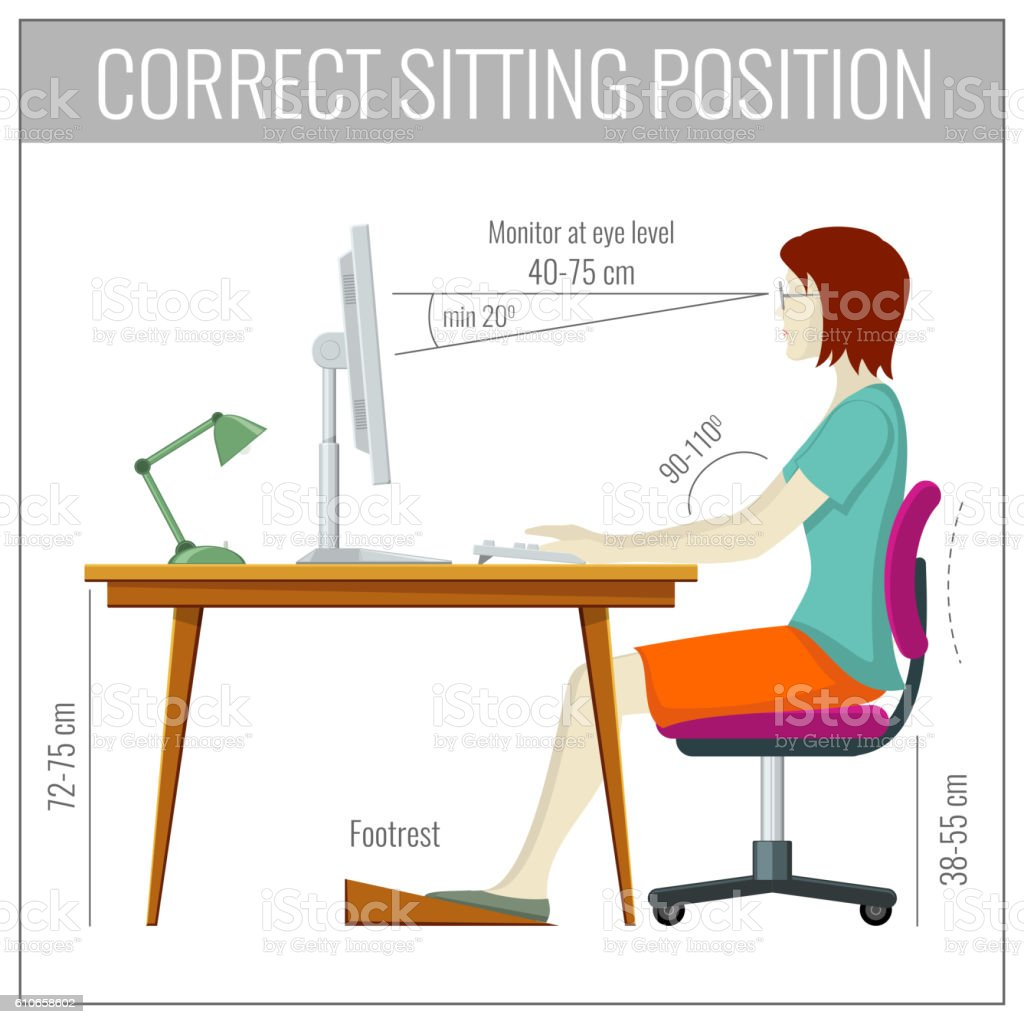 posture monitoring chair sports with shade correct spine sitting at computer health