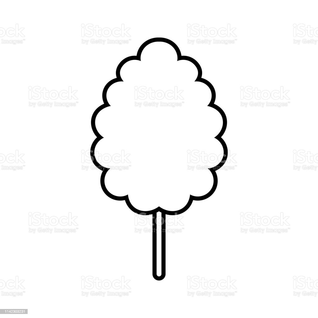 cotton candy icon isolated