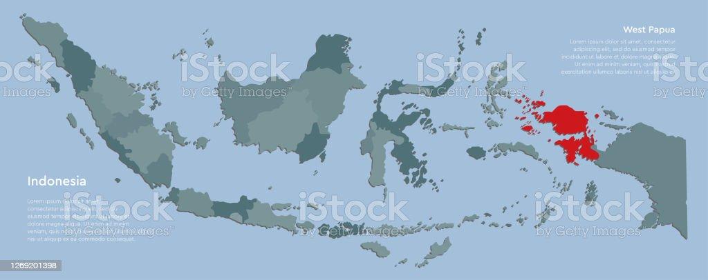 3d map of indonesia focused in red on simple globe 3d illustration. Peta Negara Indonesia Dan Provinsi Papua Barat Ilustrasi Stok Unduh Gambar Sekarang Istock