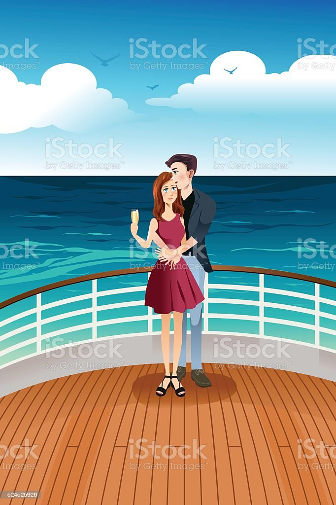 cruise ship deck illustrations