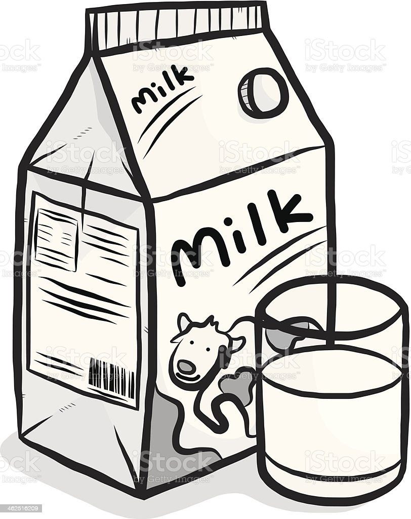 hight resolution of cow milk carton box and glass royalty free cow milk carton box and glass stock
