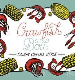 crayfish or crawfish boil invitation design template royalty free crayfish or crawfish boil invitation design [ 1024 x 778 Pixel ]