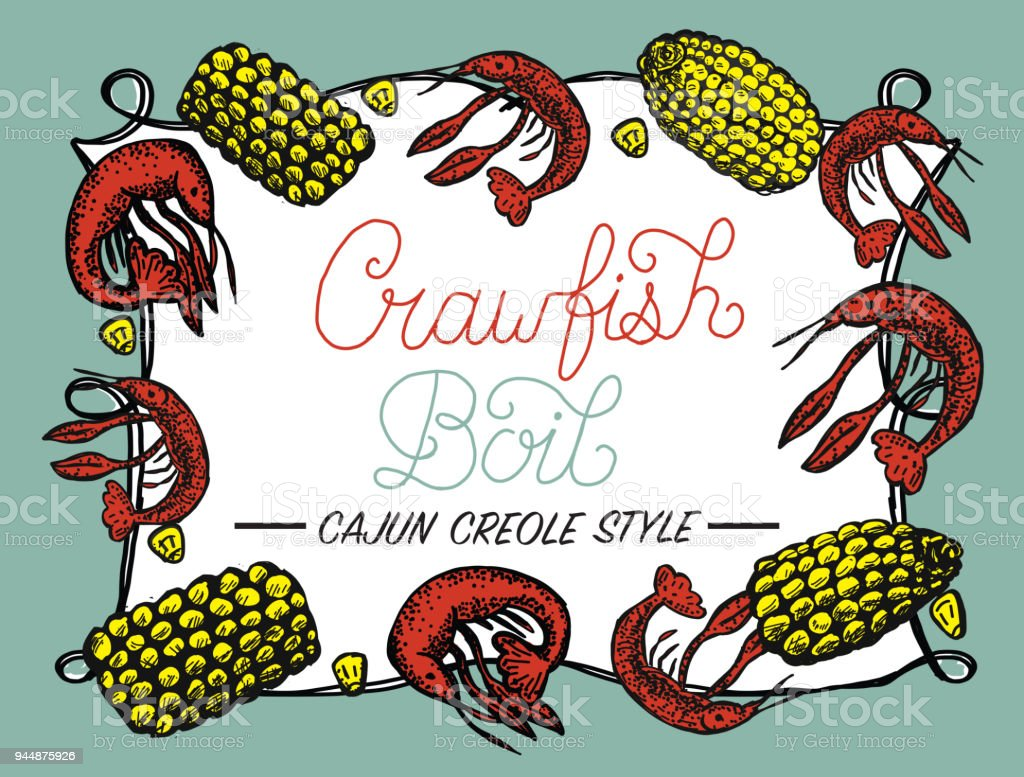 hight resolution of crayfish or crawfish boil invitation design template royalty free crayfish or crawfish boil invitation design