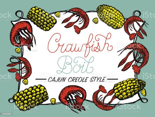 small resolution of crayfish or crawfish boil invitation design template royalty free crayfish or crawfish boil invitation design