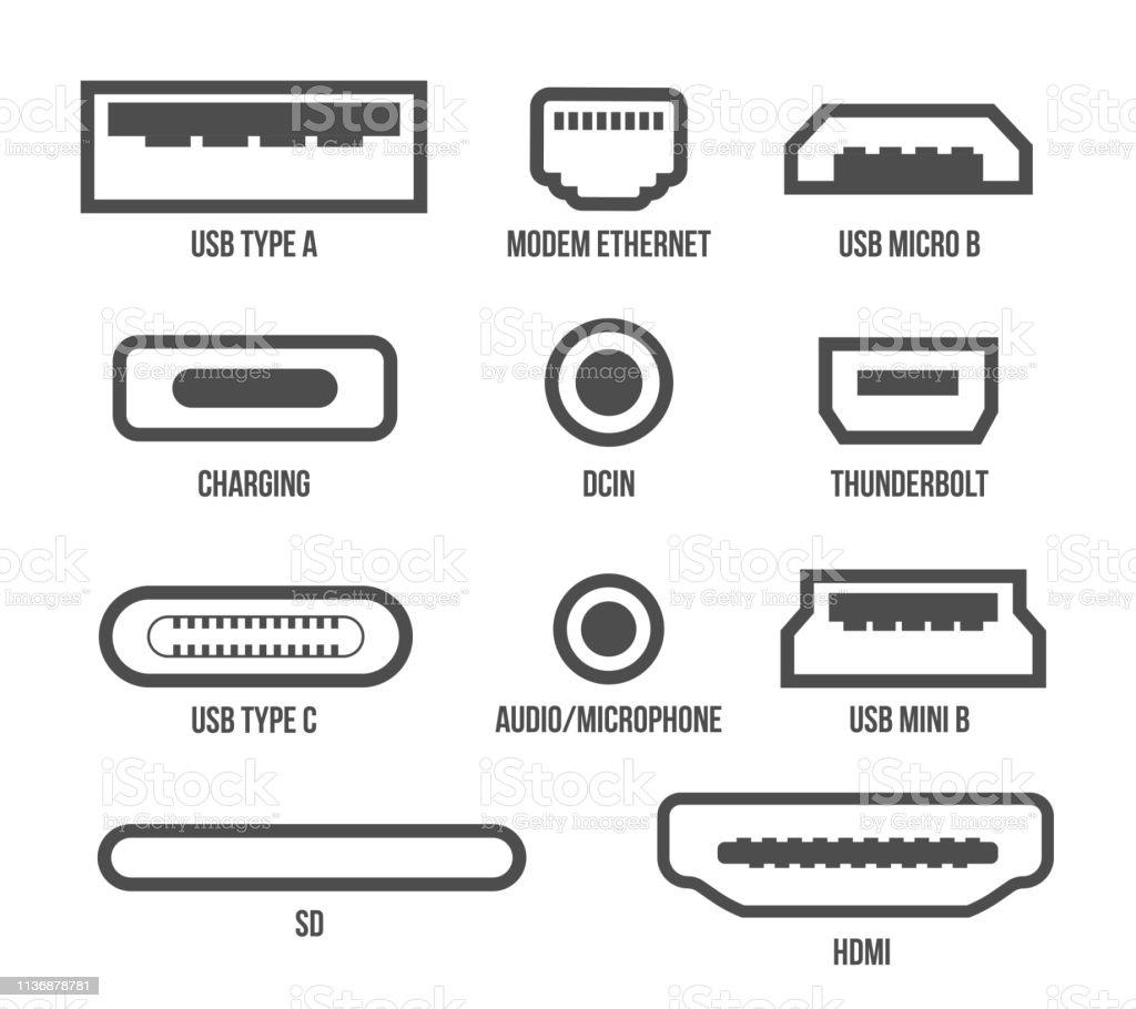 Creative Vector Illustration Of Usb Computer Universal