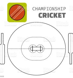 cricket flat color icon sports ball and field plan vector royalty free cricket [ 1024 x 1024 Pixel ]