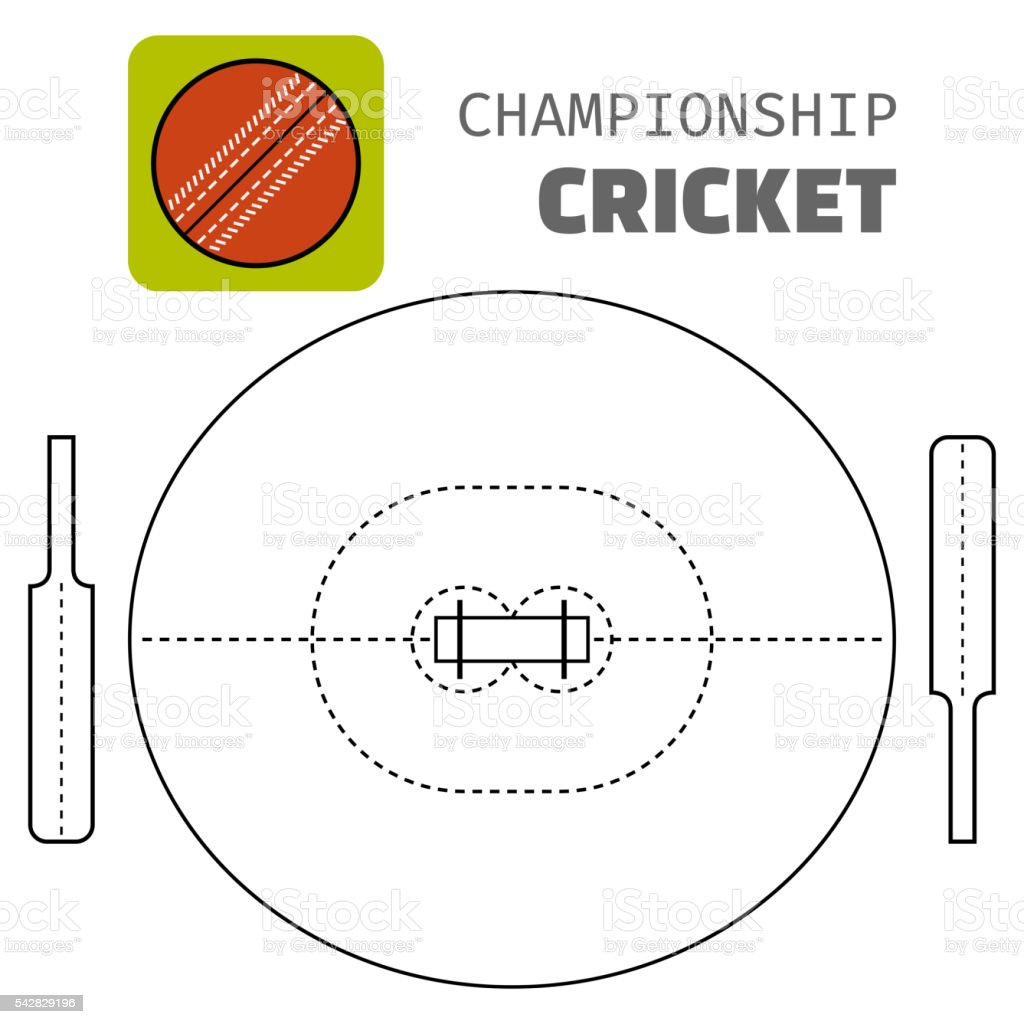 hight resolution of cricket flat color icon sports ball and field plan vector royalty free cricket