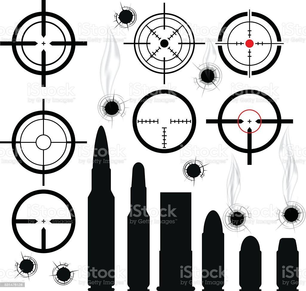 best bullet illustrations royalty