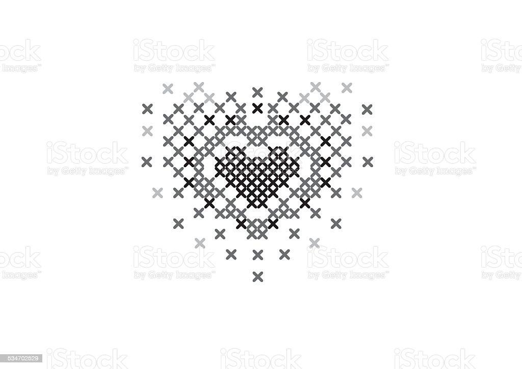 Crossstitch Heart Stock Vector Art 534702529