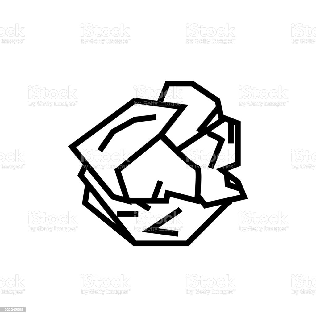 Royalty Free Crumpled Paper Clip Art Vector Images