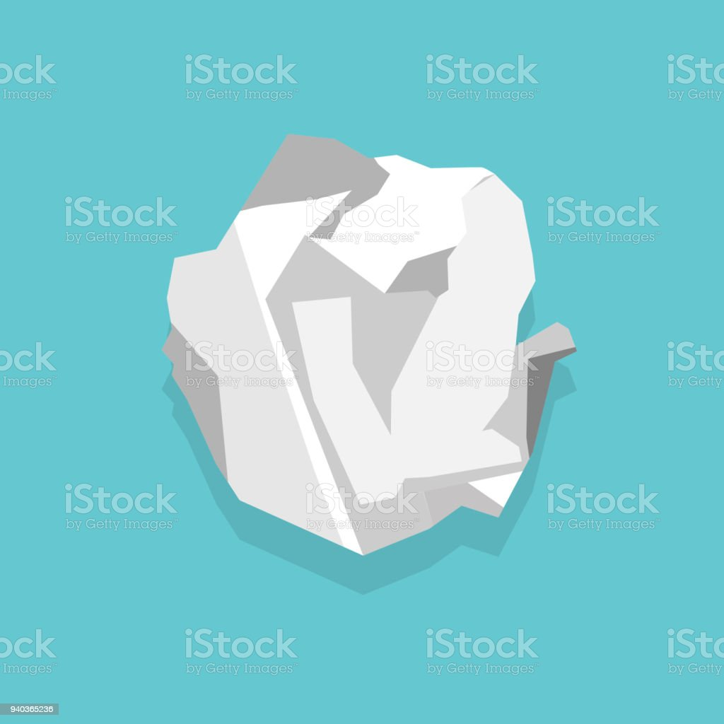 Royalty Free Crumpled Paper Ball Clip Art Vector Images