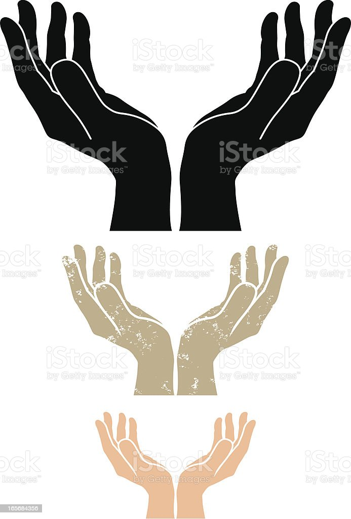 best cupped hands illustrations
