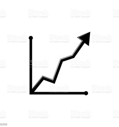 curved up arrow chart icon trend diagram element icon business analytics concept design icon [ 1024 x 1024 Pixel ]