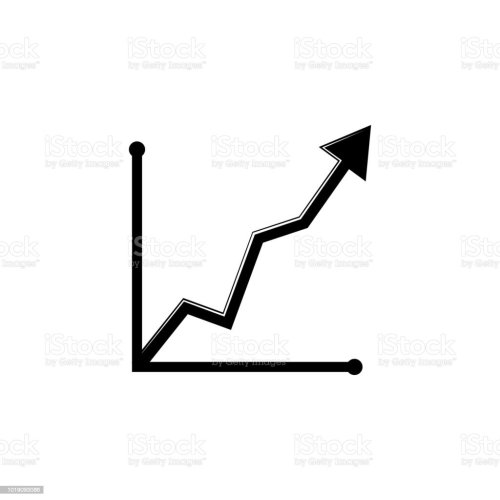 small resolution of curved up arrow chart icon trend diagram element icon business analytics concept design icon