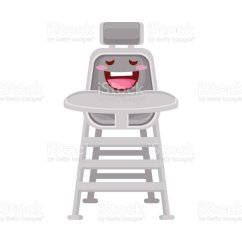 Baby Eating Chair Brown Leather Dining Chairs Modern Cute Newborn Cartoon Character Illustration Royalty Free