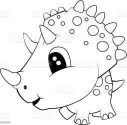 dinosaur cartoon baby cute triceratops vector animal clip illustration illustrations vectors cheerful wildlife similar istockphoto
