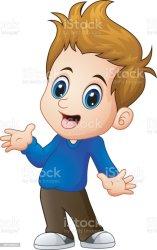 boy cartoon brown hair cute eyes clip illustrations vector cartoons