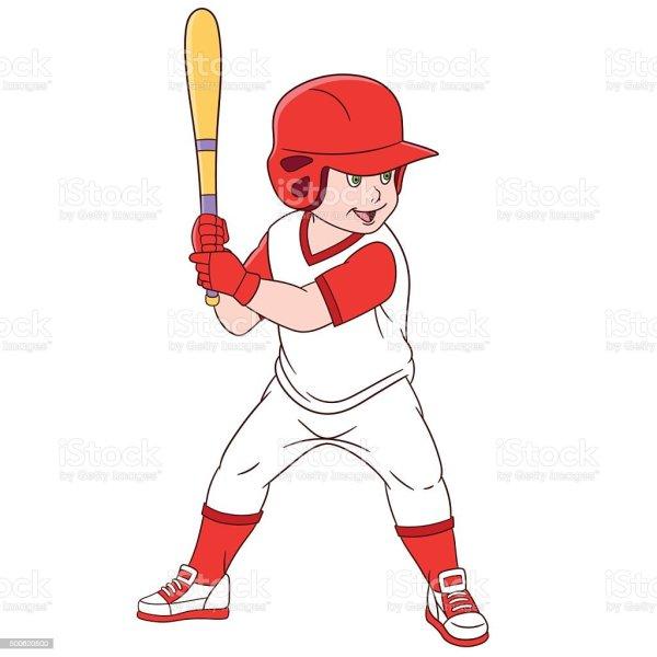 Cartoon Baseball Player Clip Art