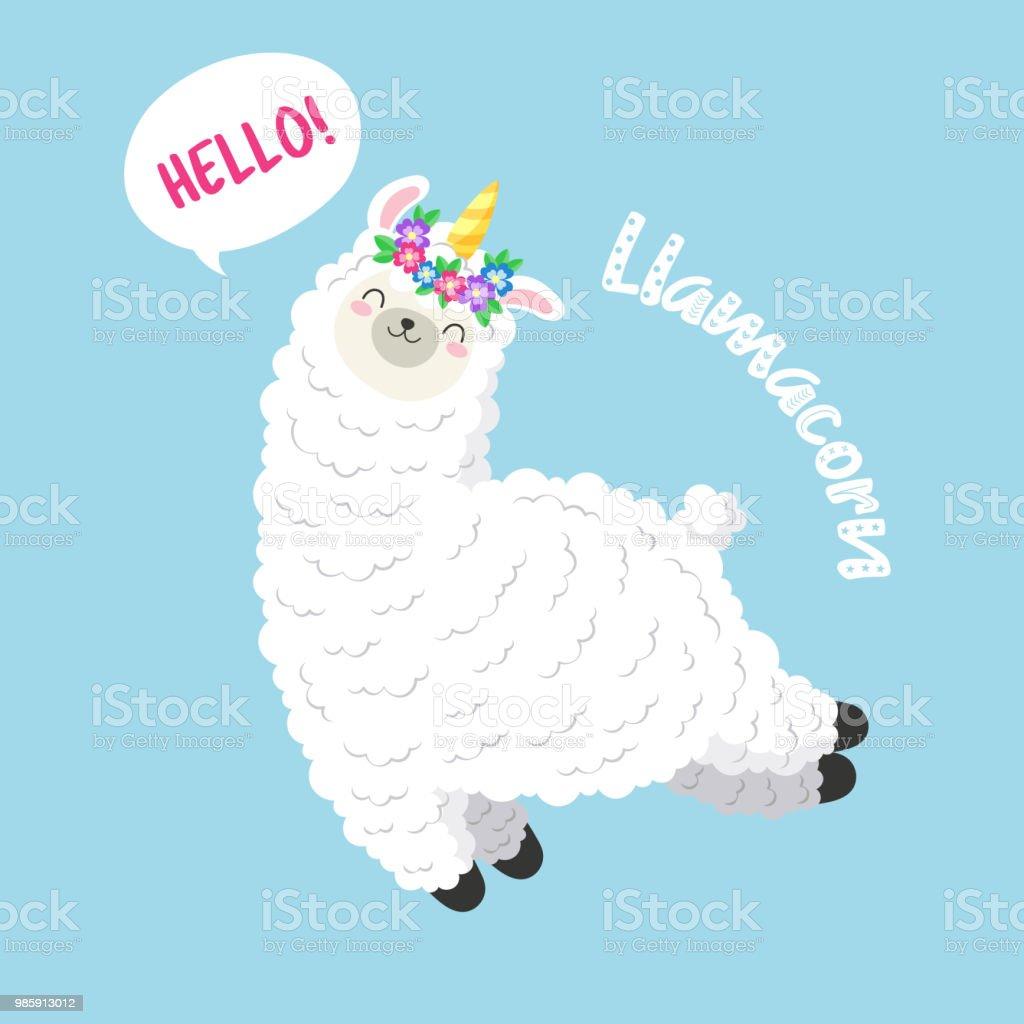 Cute Llamacorn Wallpaper Cute Cartoon Lama Doodle Vector Illustration Llamacorn