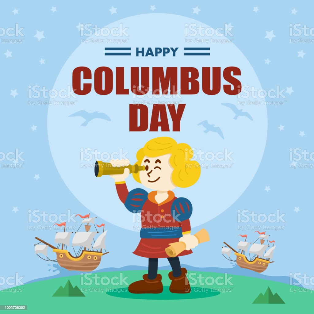 hight resolution of cute cartoon of christopher columbus vector illustration royalty free cute cartoon of christopher columbus