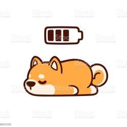 sleeping cartoon dog cute animal illustration vector bedtime battery usa