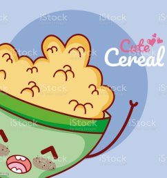 cute cereal bowl kawaii cartoon royalty free cute cereal bowl kawaii cartoon stock vector art [ 1024 x 1024 Pixel ]