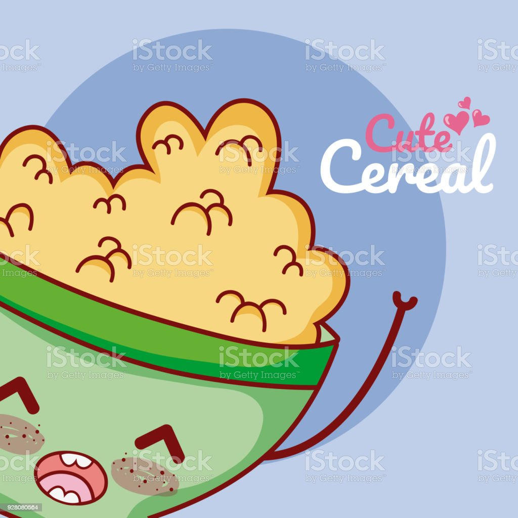 hight resolution of cute cereal bowl kawaii cartoon royalty free cute cereal bowl kawaii cartoon stock vector art