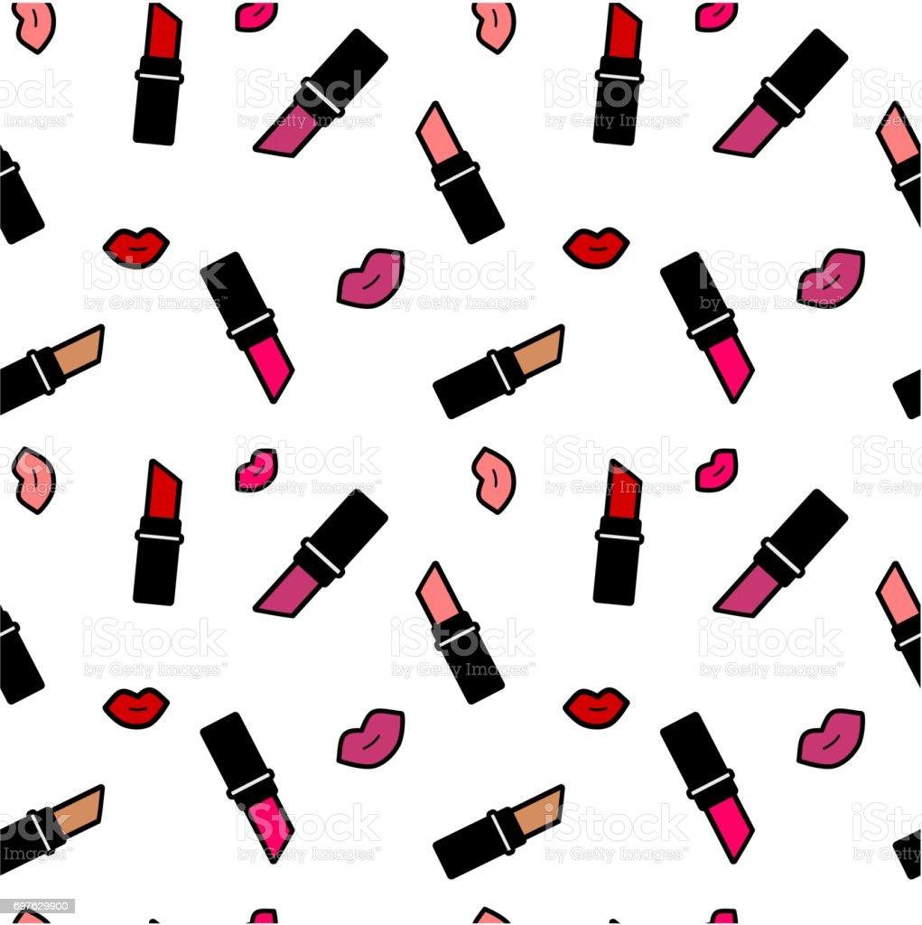 cute colorful cartoon lipstick