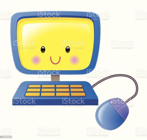 Computer Smiley-Face Clip Art