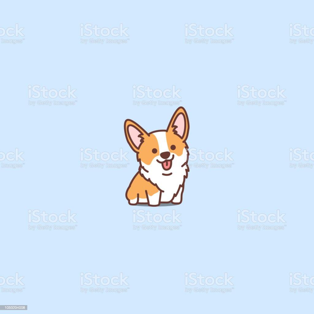 cute corgi puppy cartoon