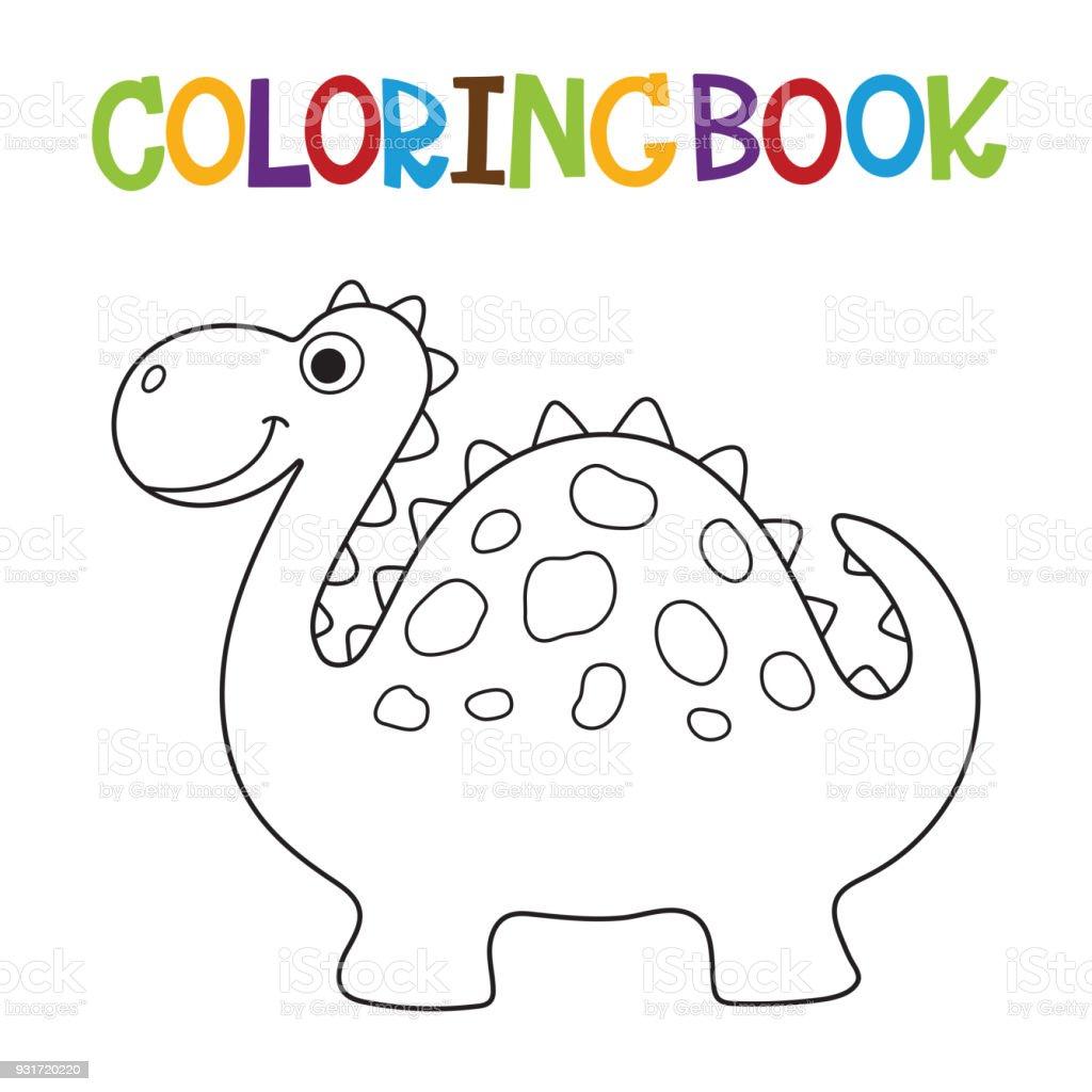 可愛的恐龍著色書 向量插圖及更多 劍龍 圖片 931720220 | iStock