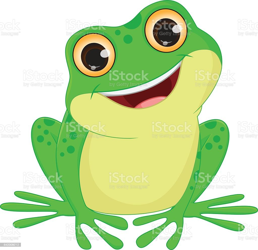 frog clip art vector &