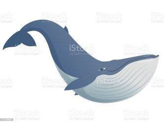 Cute Funny Blue Whale Stock Illustration Download Image Now iStock