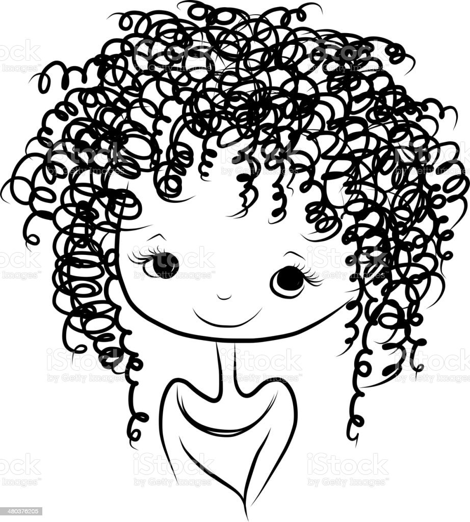 royalty free curly hair clip art