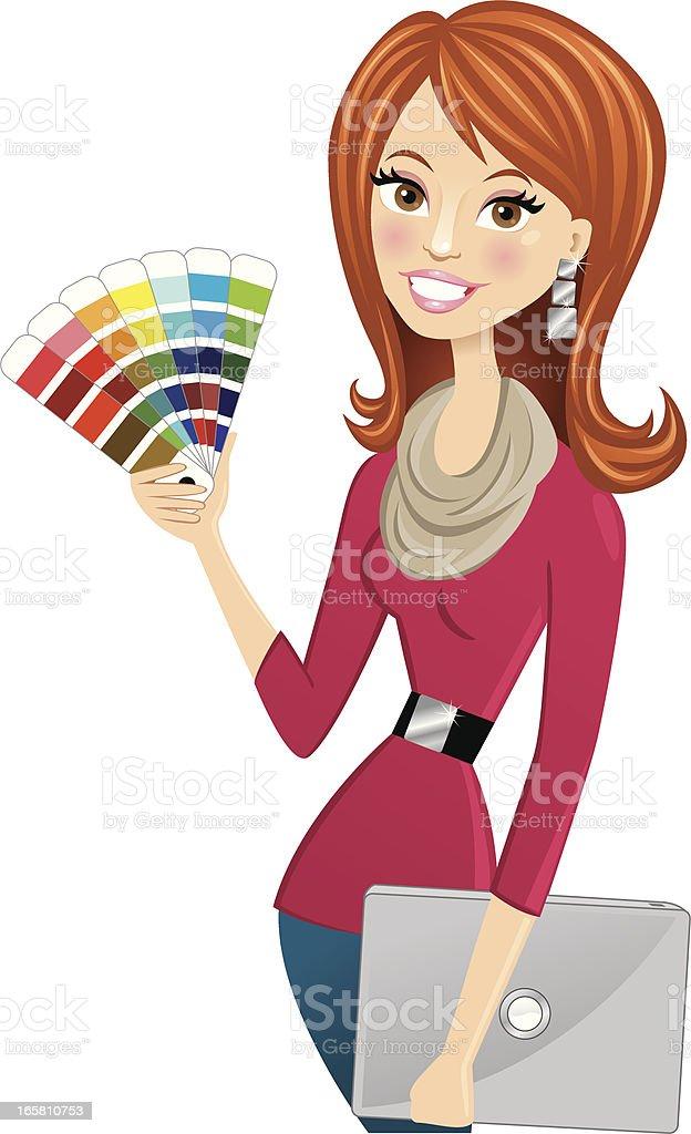 interior designer illustrations