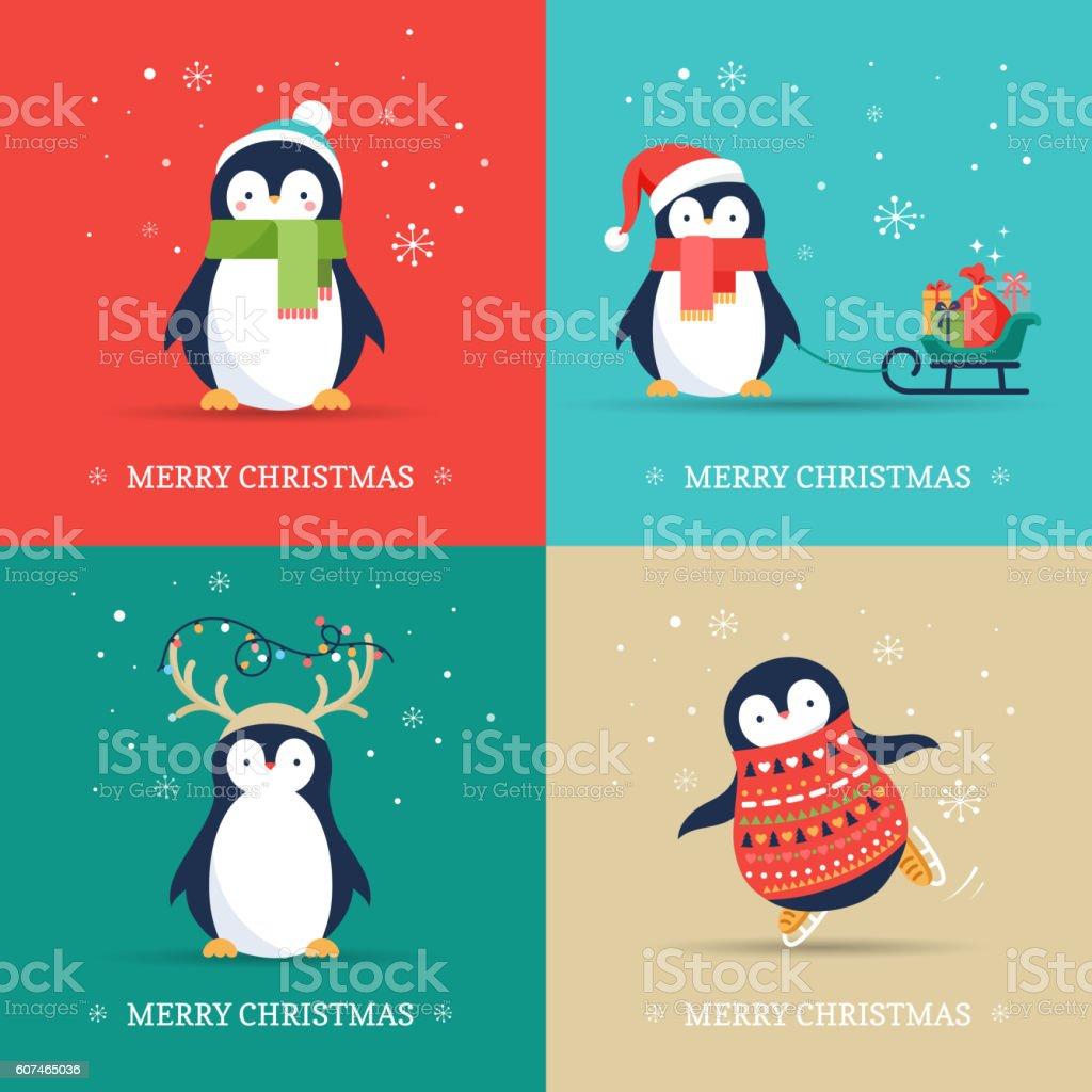 penguin clip art vector