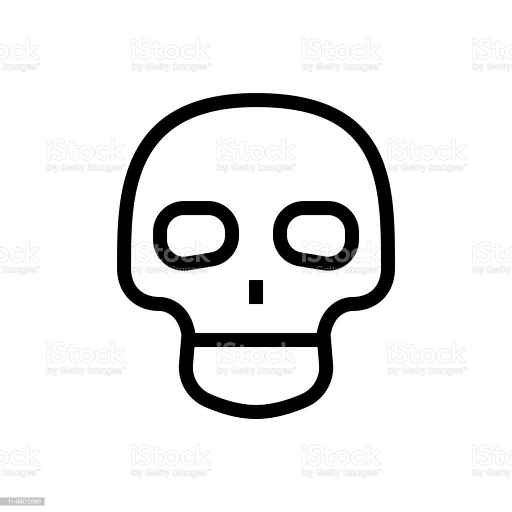 Cute Skull Icon Design Head Skeleton Human Anatomy Symbol
