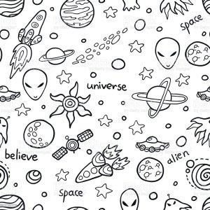 space pattern seamless alien astronomy backgrounds illustration adventure vector vectors cartoon