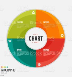 cycle chart infographic template with 4 parts options steps royalty free cycle chart [ 1024 x 1024 Pixel ]
