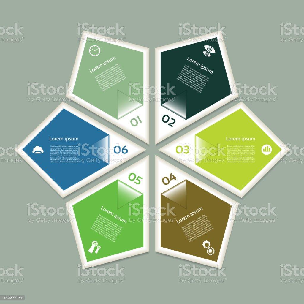 hight resolution of esquema c clico con seis pasos y los iconos eps 10 ilustraci n de esquema c clico con